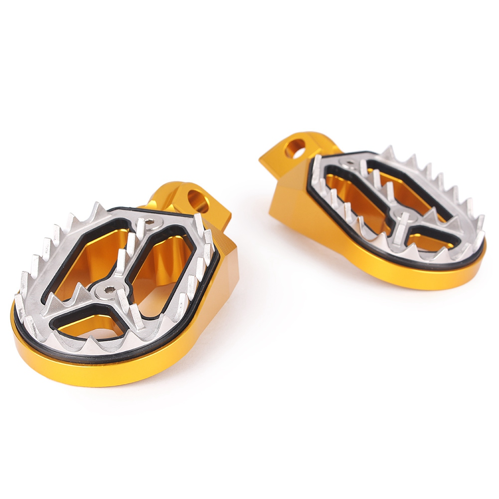 Racing Foot Pegs Footpegs Footrests For KTM Husqvarna 85cc-530cc 2005-2015 CNC Motorcycle Dirt Bike Spare Parts Sharp Teeth