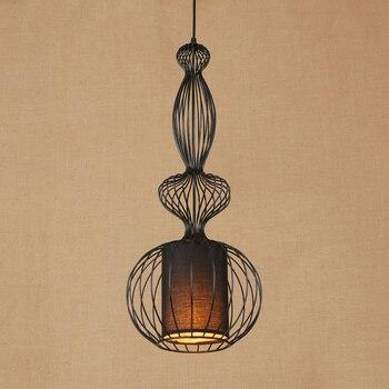 Modern large iron wire art pendant lamp LED/Edison Light Living/dining room hotel/bar E27 lamp Pendant Light Fixture 220V