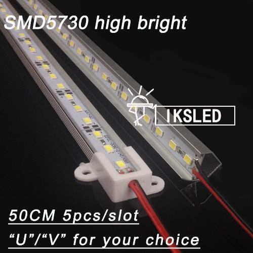 5pcs*0.5m Dropship 5730 LED Bar 18W 12V Hard Rigid Strip Bar Light 36leds +UV Aluminium Alloy CE RoHS free shipping