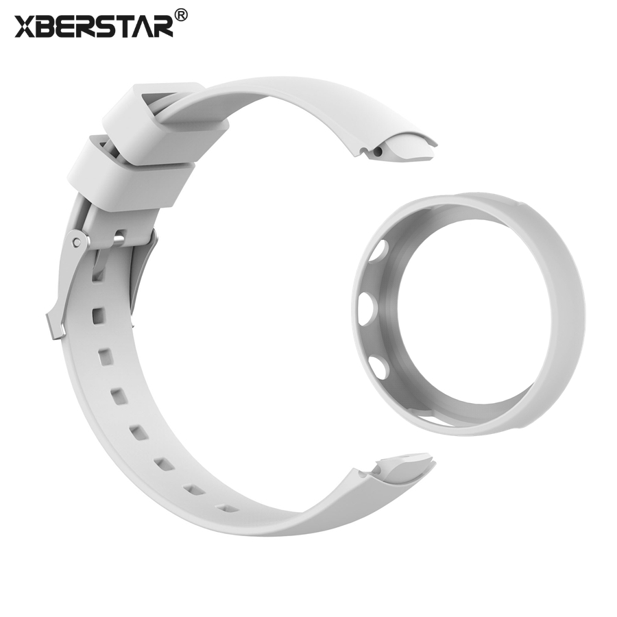 XBERSTAR 2in1 Replacement Watchband for ASUS ZENWATCH 3 Strap + Protector Case Rubber Metal Buckle умные часы asus zenwatch 3 wi503q wi503q 1rgry0011