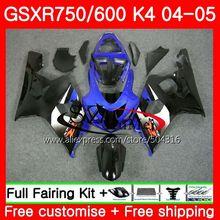 Средства ухода за кожей для SUZUKI GSXR 600 750 04 05 GSXR600/750 GSX-R750 30SH18 GSX-R600 K4 GSXR750 04 05 GSXR600 2004 2005 сине-черный, сверкающий