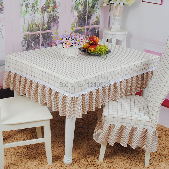 Table cloth chair cover set cloth thickening one piece  : Table cloth chair cover set cloth thickening one piece chair cover plaid dining table cloth dining from www.aliexpress.com size 700 x 700 jpeg 346kB