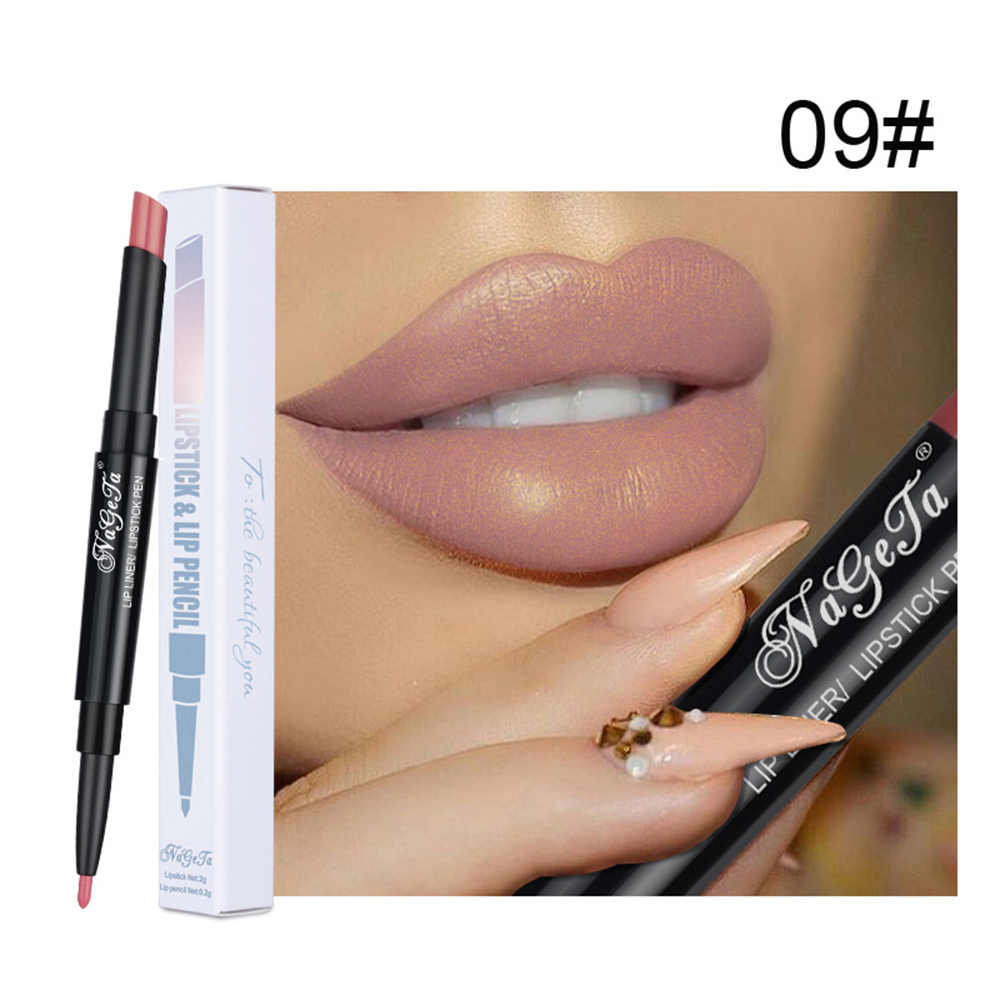12 Color Matt Lip Stick Dual Lipstick Pen Moisturizing Lip Liner Purple Lipstick Double Korean Lipstick Maquillage TSLM2