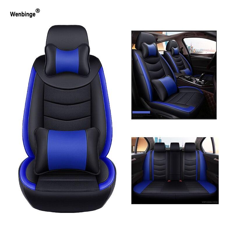 Wenbinge Vachette cuir housse de siège de voiture Pour peugeot 206 301 407 308 508 406 307 3008 207 205 accessoires couverture pour siège de véhicule