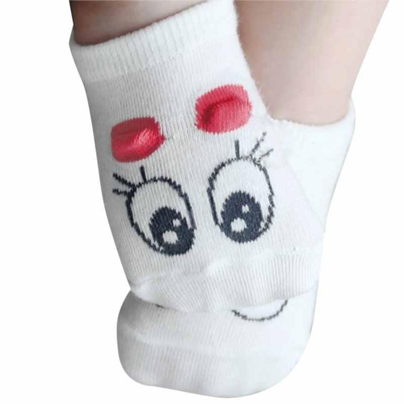 Más estilos de calcetines nuevos 1 par calcetines recién nacidos bebé niño niñas calcetines lindo ojo cuna calcetines calientes para recién nacido niños Niñas