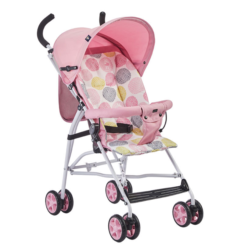 Baby Stroller Four Rounds Foldable Portable Full Awning Universal Wheel Breathable Multiple Choices Mom's Favorite