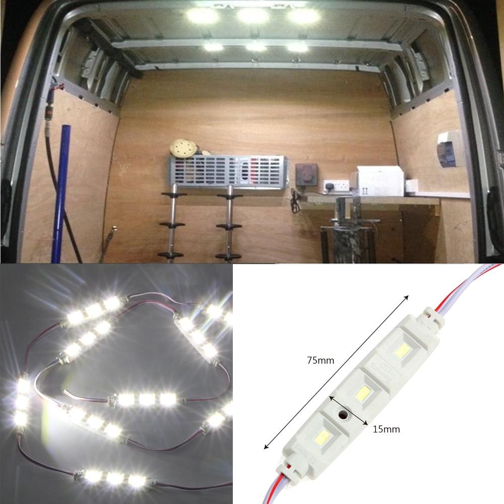 12V 10x3 LED Lamp Auto Roof Lamp Kit For RV Van Sprinter Ducato Car Reading Light Waterproof Car Styling LED Modules Light фаркоп fiat ducato 3 van sollers 2006 без электрики
