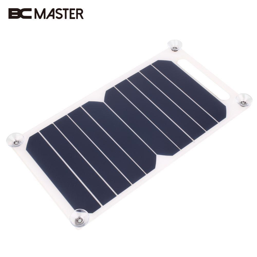 BCMaster New Portable Polycrystalline Travel Energy Solar Panel DIY Battery Charger USB 5V 5W for Power Bank Supply Travelling
