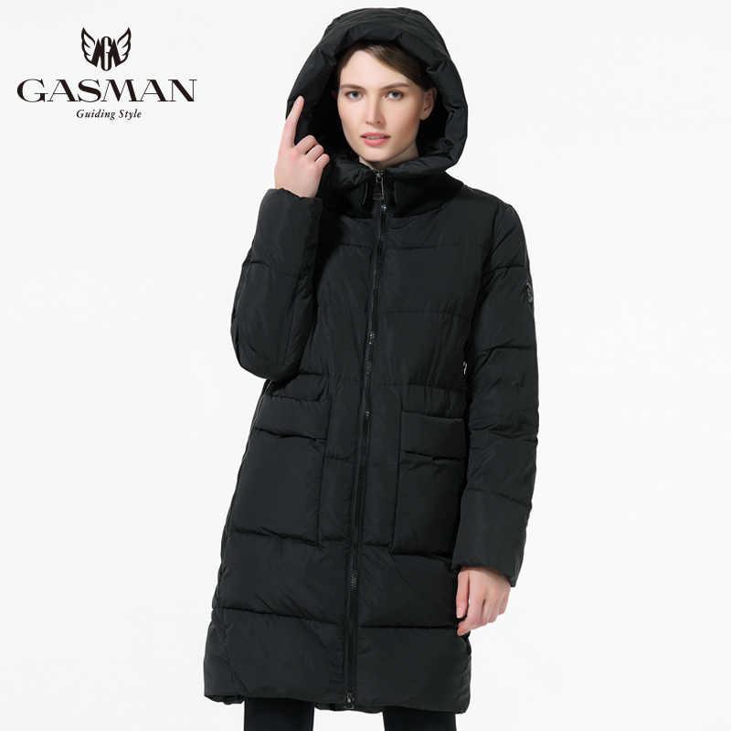 GASMAN Plus Größe Mantel Frauen Winter 2018 Neue Mode Verdickung Bio Unten Jacke Lange frauen Mit Kapuze Warmen Parka Mäntel 6XL 5XL