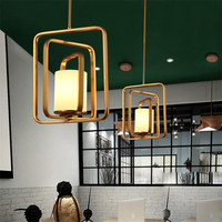 Vintage Led Pendant Lights Loft Industry Copper Hangqing Lams Iron For Dining Room Lighting Fixtures