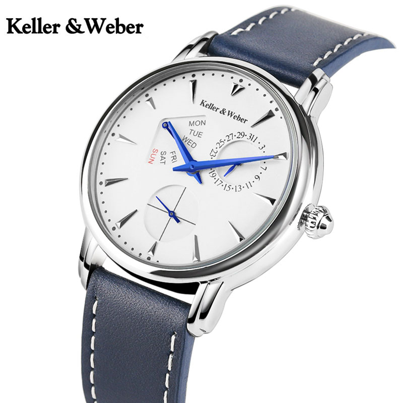 Keller & Weber Luxury Quartz Watch Men's