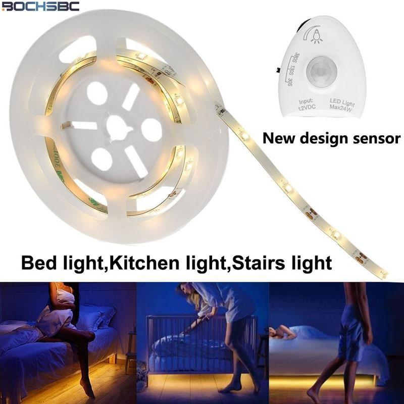 Us 19 47 16 Off Bochsbc Dimmable Motion Sensor Warm White Led Lamp Strip For Bedroom Garden Decoration Light For Chrismas Parties Cabinet Lights In