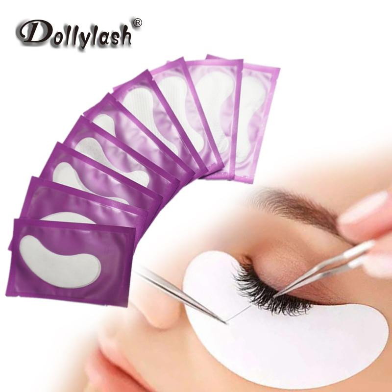 50 Pairs Ultrathin Lint Free Facial Under Eye Pads Patch Taps for DIY False Eyelash Lashes Extension Makeup Gel Pads