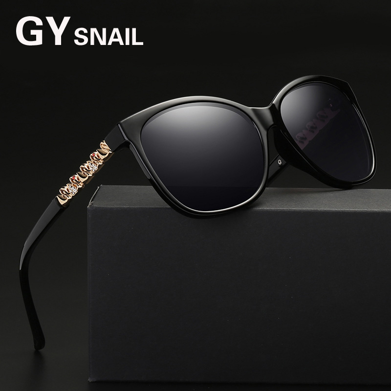 GY snail GIRL Luxury Brand Designer Women Sunglasses Polarized Oversize Acetate Cat Eye Sun Glasses for women Sexy Shades uv400