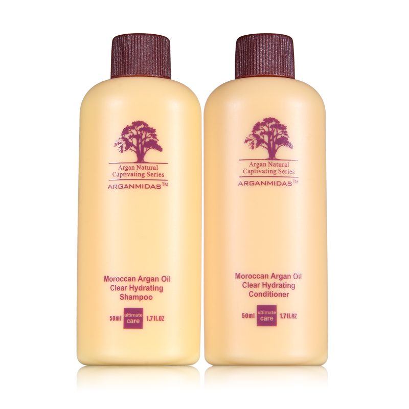 Hot sale !!! 100ml 5pcs A Set Argan Oil Mini Hair Shampoo and Conditioner Travel Kit Hair Treatment and Care Free Shipping