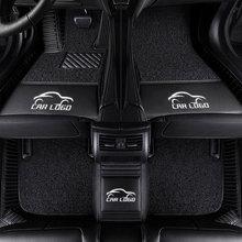 3D Car floor mats for Mercedes Benz logo Viano ABCEGSR V W204 W205 E W211 W212 W213 Sclass CLA GLC ML GLA GLE GL GLK Car- carpet недорого