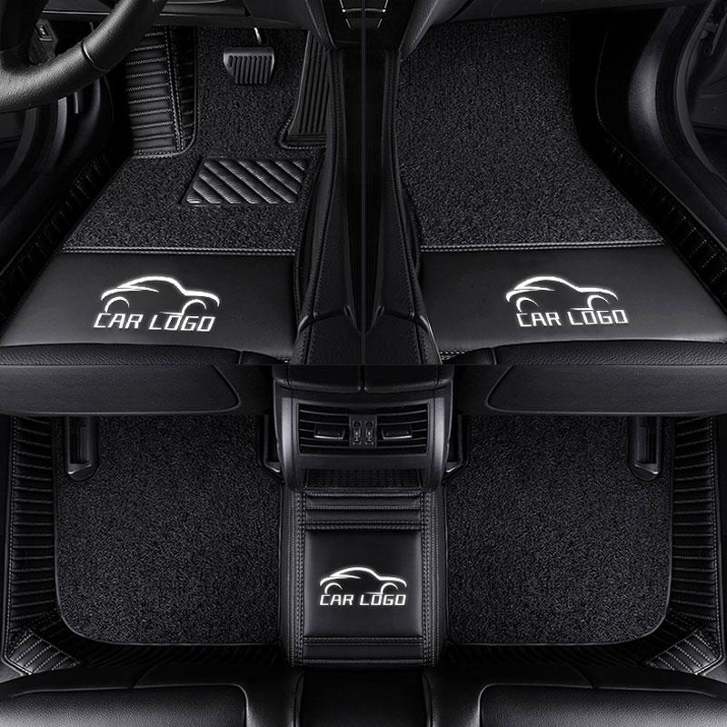 3D esteiras Do assoalho Do Carro para o logotipo Mercedes Benz Viano ABCEGSR V W204 W205 E W211 W212 W213 Sclass CIA GLC ML GL GLK GLA GLE Carro-tapete