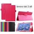 (NOT for Lenovo YOGA TAB 3 8.0 850) For Lenovo Tab 2 A8-50F A8-50LC/Tab3 8 TB3-850F/850M 8 inch PU Leather Cover Case