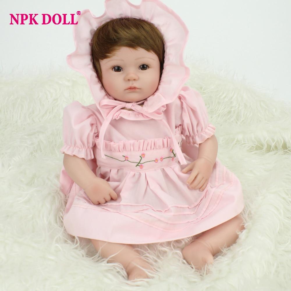 NPKDOLL 40 cm fait à la main bebe reborn réaliste boneca nouveau-né npk poupée reborn bébé réaliste boneca silicone noël brinquedo