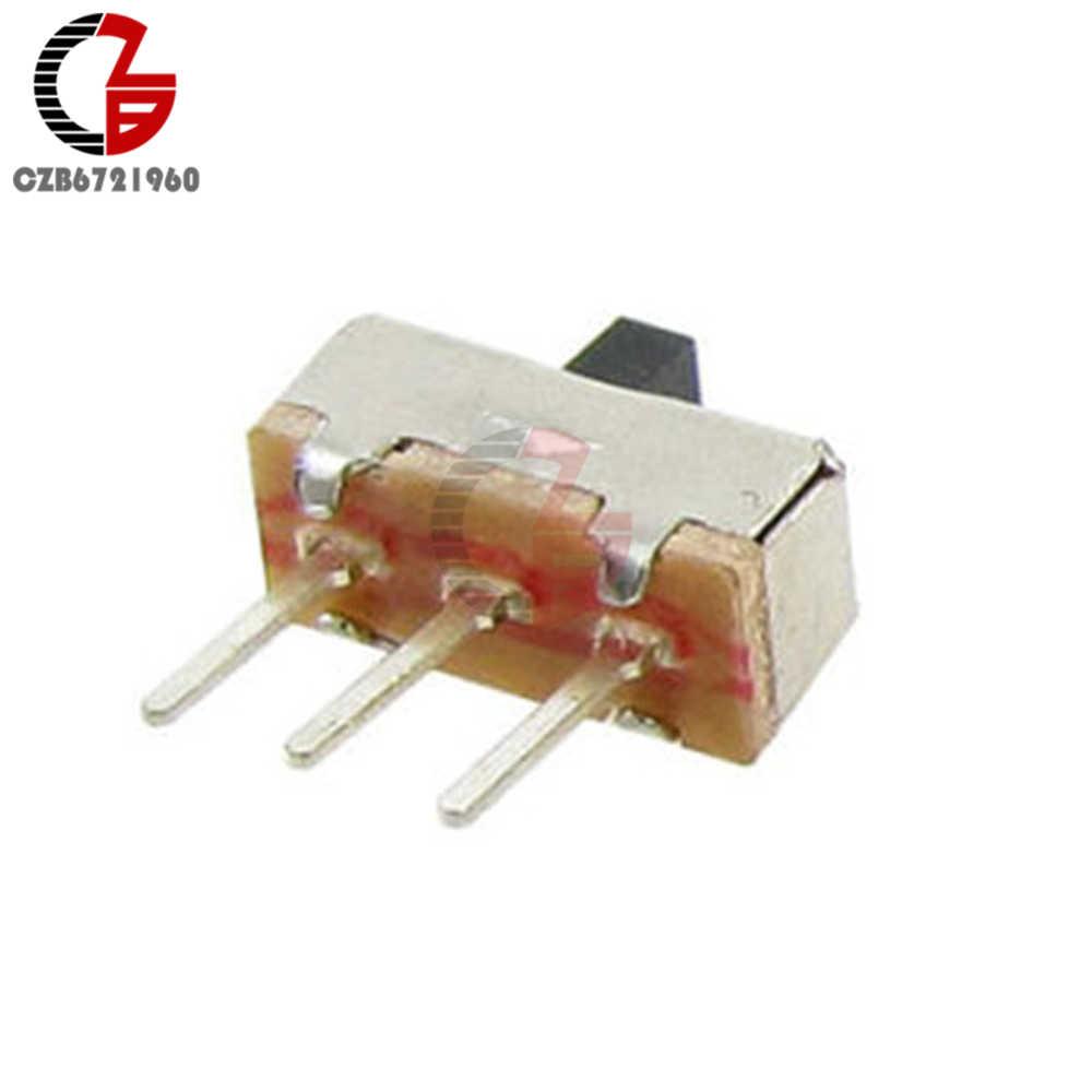 20Pcs SS12D00G3 מתג למתג 2 עמדה SPDT 1P2T 3 פין PCB פנל מיני אנכי שקופיות מתג מיני כוח מתג עבור אודיו אור