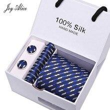 Mens 2018 high fashion men black skinny neck tie set handkercheif set 7.5cm width neckties jacquard corbata gift box packing marvis black box gift set