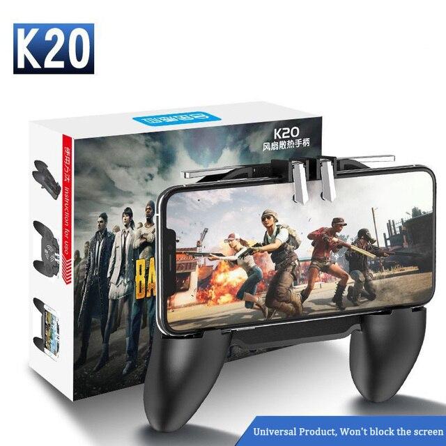 PBUG Mobile L1R1 shooter controller di gioco con dispositivo di raffreddamento del ventilatore pubg joystick per il telefono gioco supporto pubg trigger console oyun konsolu