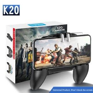 Image 1 - PBUG Mobile L1R1 shooter spiel controller mit kühler fan pubg joystick für telefon spiel halter pubg trigger konsole oyun konsolu