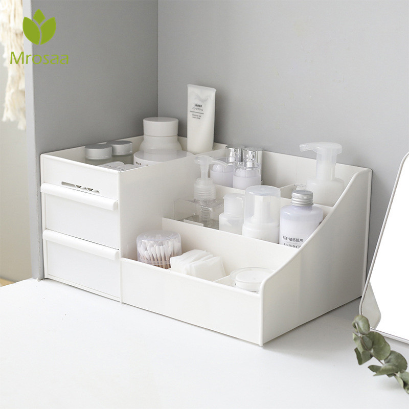 Large Capacity Cosmetic Storage Box Drawer Makeup Dressing Table Skin Care Rack House Organizer Container Mobile Phone Sundries
