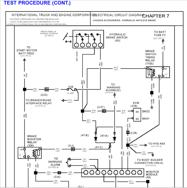 International Truck Wiring Diagram Schematic Diagram Electronic
