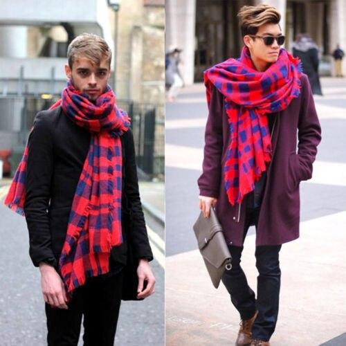 Winter 2015 font b Tartan b font Warm Scarf Desigual Plaid Scarf cuadros New Designer Unisex