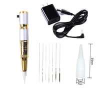 Charging  Dermografo Universal Permanent Makeup Kit Eyebrow Lip Liner Tattoo Machine Pen With German Strong Quiet Motor