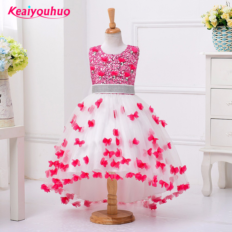 2018 New Summer girls dress girls sleeveless dresses Princess Party Kids clothes 3-12 years Children Birthday Evening clothing 2016 new girls dress cotton summer style sleeveless children dress party dresses for 2 7 years kids toddler vestidos kf509