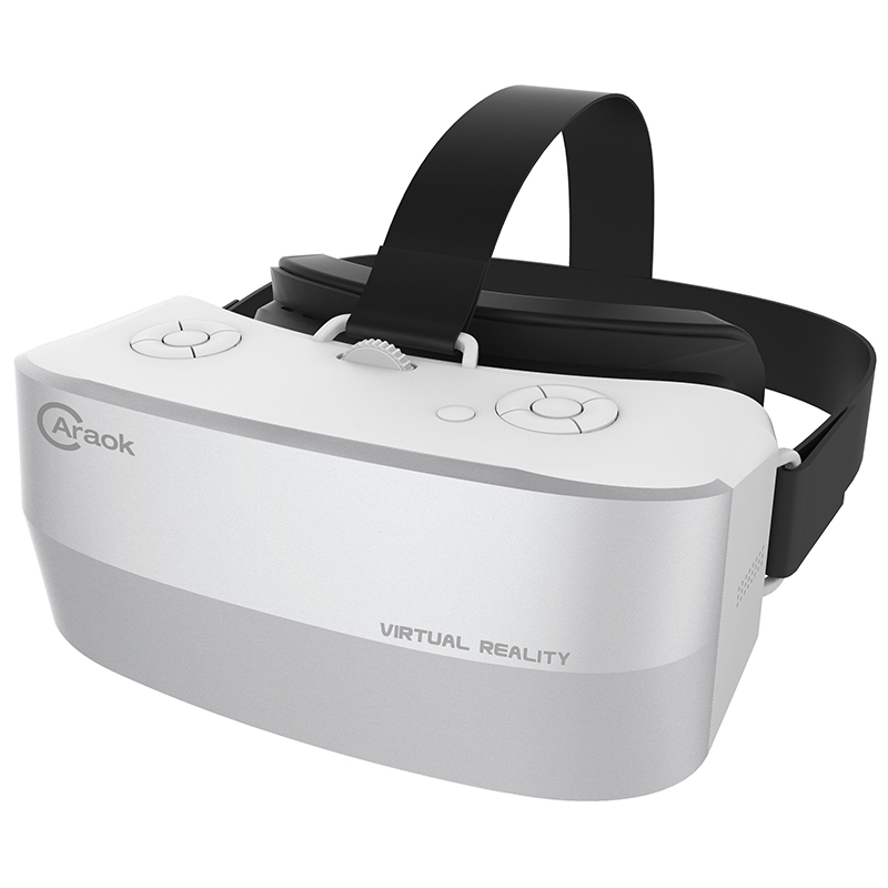 All In One VR Caraok V12 Virtual Reality 3D Glasses 8 Core H8 CPU With 1080P IPS Screen 2G 16G Support Bluetooth Wifi 2017 new motion v3 vr all in one glasses rk3288 quad core 2g ram 16g rom 5 5 inch fhd 1080p display 3d glasses virtual reality