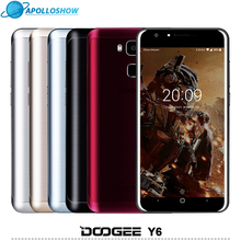 DOOGEE Y6 мобильные телефоны 5.5 Дюйма HD 2 ГБ + 16 ГБ Отпечатков Пальцев Android6.0 Dual SIM MTK6750 Qcta Core 13.0MP 3200 мАч WCDMA LTE GSM GPS