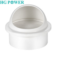 100/150mm Round Wall Air Vent Outlet Cover Bathroom Ducting Ventilation Exhaust Grille Cover ABS  White 4/6 inch High Quality