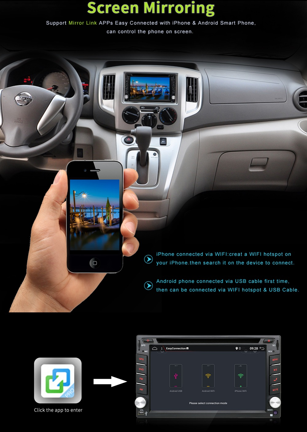 Discount Android 7.1 Quad Core With Car DVD Player GPS Navi For Toyota RAV4 Corolla Hilux For Universal Car Radio Touch Screen Car Stereo 5