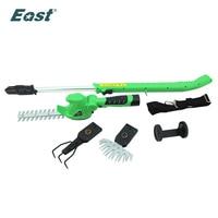 Восточный сад Мощность Инструмент 10,8 В литий ионный беспроводной хедж триммер мини культиватор ferramentas мощность ножи ET1007 6in1