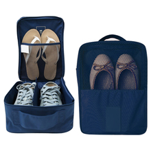 1Pc Portable Travel Shoes Bag Double Waterproof Storage Bags Tote Pouch Shoe Organizer   Nylon Mesh Pouchs Home Supplies