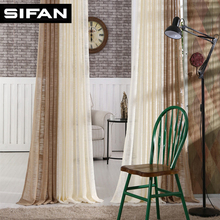 New Japan Sólido Tul Cortinas para el Dormitorio Cortinas de Tul para la Sala de estar Cocina Moderna Pura Voile Cortinas Persianas