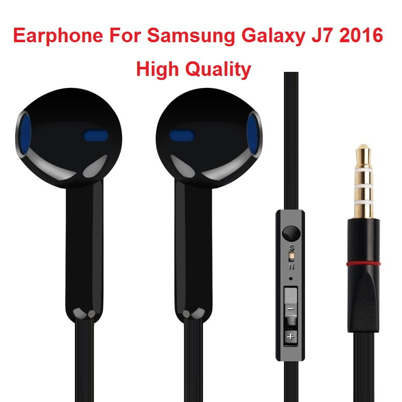 Stereo Earphone For Samsung Galaxy J7 2016 Earbuds Headsets With Mic Earphones fone de ouvido Headphones image