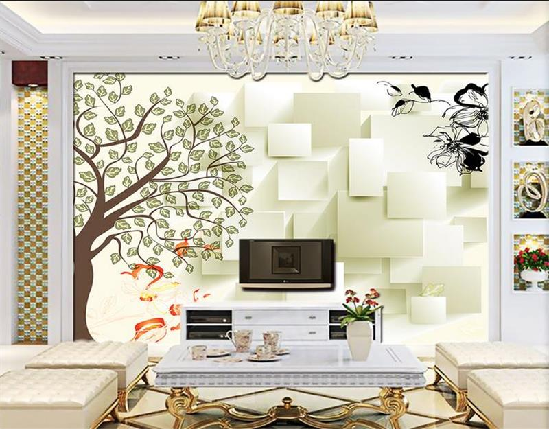 3d photo wallpaper custom mural room non-woven 3d Box abstract tree painting picture 3d wall murals wallpaper for walls 3d 3d photo wallpaper custom mural room non woven green forest sun landscape painting picture 3d wall murals wallpaper for walls 3d