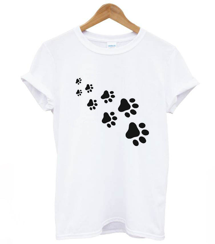 cat paws print Women tshirt 8