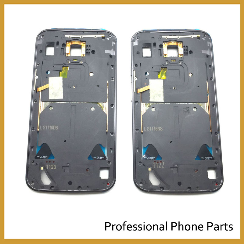 Original For Motorola Moto X 2nd Gen X2 X+1 XT1085 Middle Frame Bezel Case Cover With Power Volume Button Key Replacement Parts