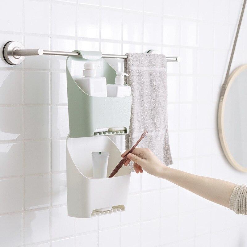 Household Hanging Drain Bag Bathroom Storage Bath Basket for Shower for Shampoo Cosmetics Products Bathroom Organizer
