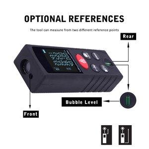 Image 3 - 40 100 M Laser Strahl Abstand Meter Digitale Entfernungsmesser Elektronische Maßband Range Finder Trena Signal empfänger Vertikale Blase