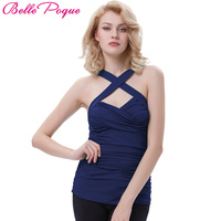 Belle Poque Bandage Top Crop Sexy Cross Front Sweetheart Classic Tank Tops 2017 Womens Summer Basic