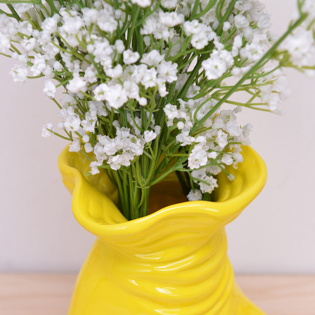 Online shop 2018 new handmade creative white and yellow hand flower 2018 new handmade creative white and yellow hand flower pot resin flower vase modern home decorations ornaments special gifts mightylinksfo