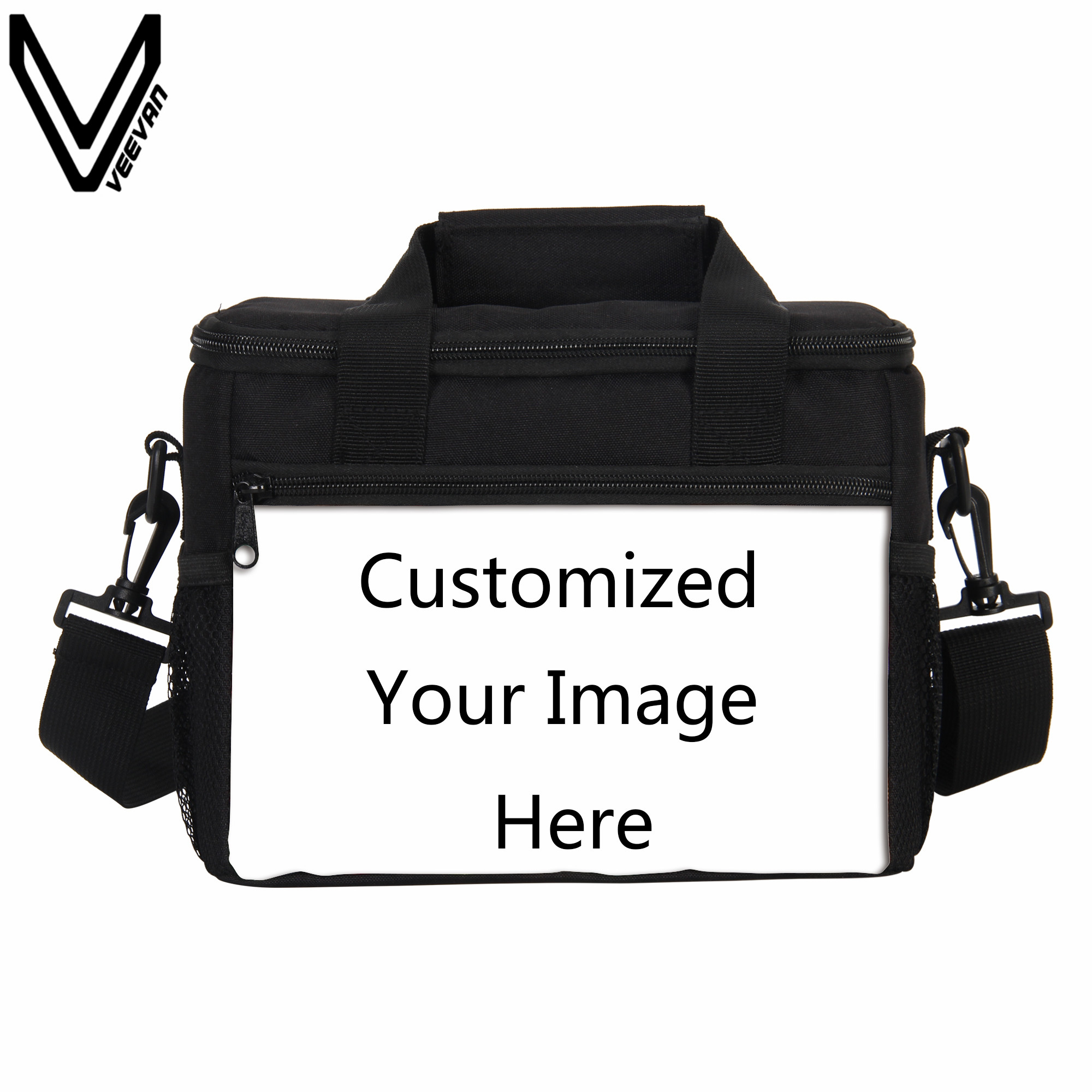 VEEVANV Small Thermo Lunch Bags Customized Image Here Women Thermal Insulated <font><b>Cooler</b></font> Bags Men Portable Food Tote Handbags Picnic