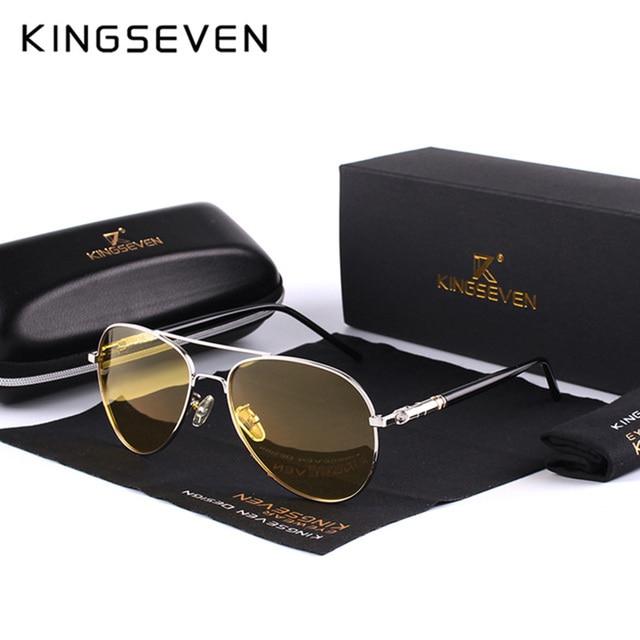 8e070af8ab 2018 Mens Polarized Night Driving Sunglasses Men Brand Designer Yellow Lens  Night Vision Driving Glasses Goggles Reduce Glare
