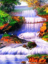 5d Diamond Mountain Scenery Paintings Picture Houses Dimond Painting Crafts Square Kits  Embroidery Peacocks Mosaic